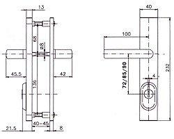 Защитная фурнитура R1/R4 схема