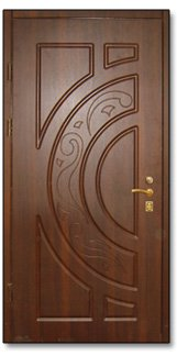 Обшивка дверей МДФ накладками