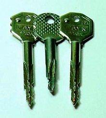 Ключи от замков типа «крест»